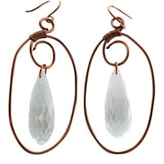 Wire Wrapped Copper Earrings