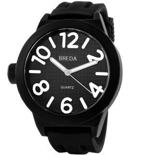 Breda Men's 'Jaxon' Silicone Band Watch