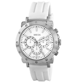 Breda Men's 'Tripp' White Silicone Watch