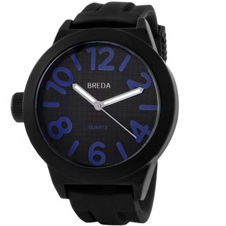 Breda Men's 'Jaxon' Silicone Strap Watch