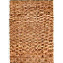 LNR Home Natural Fiber Natural Jute Braided Area Rug (9'2 x 12'6)