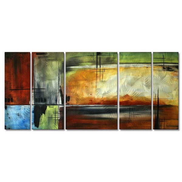 Megan Duncanson ''On Track'' Metal Wall Sculpture
