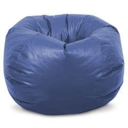 BeanSack Kids Royal Blue Vinyl Bean Bag