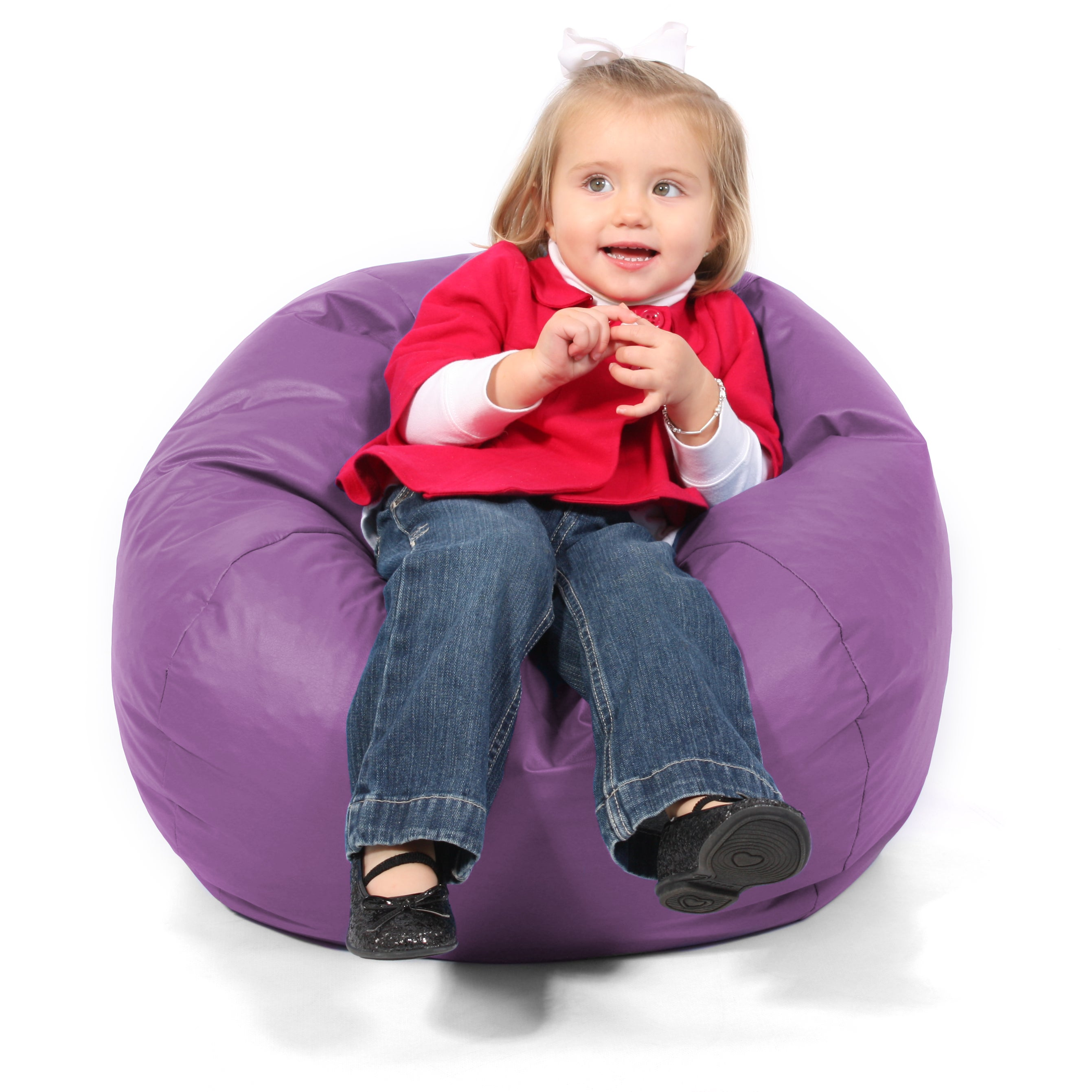 BeanSack Kids Purple Vinyl Bean Bag