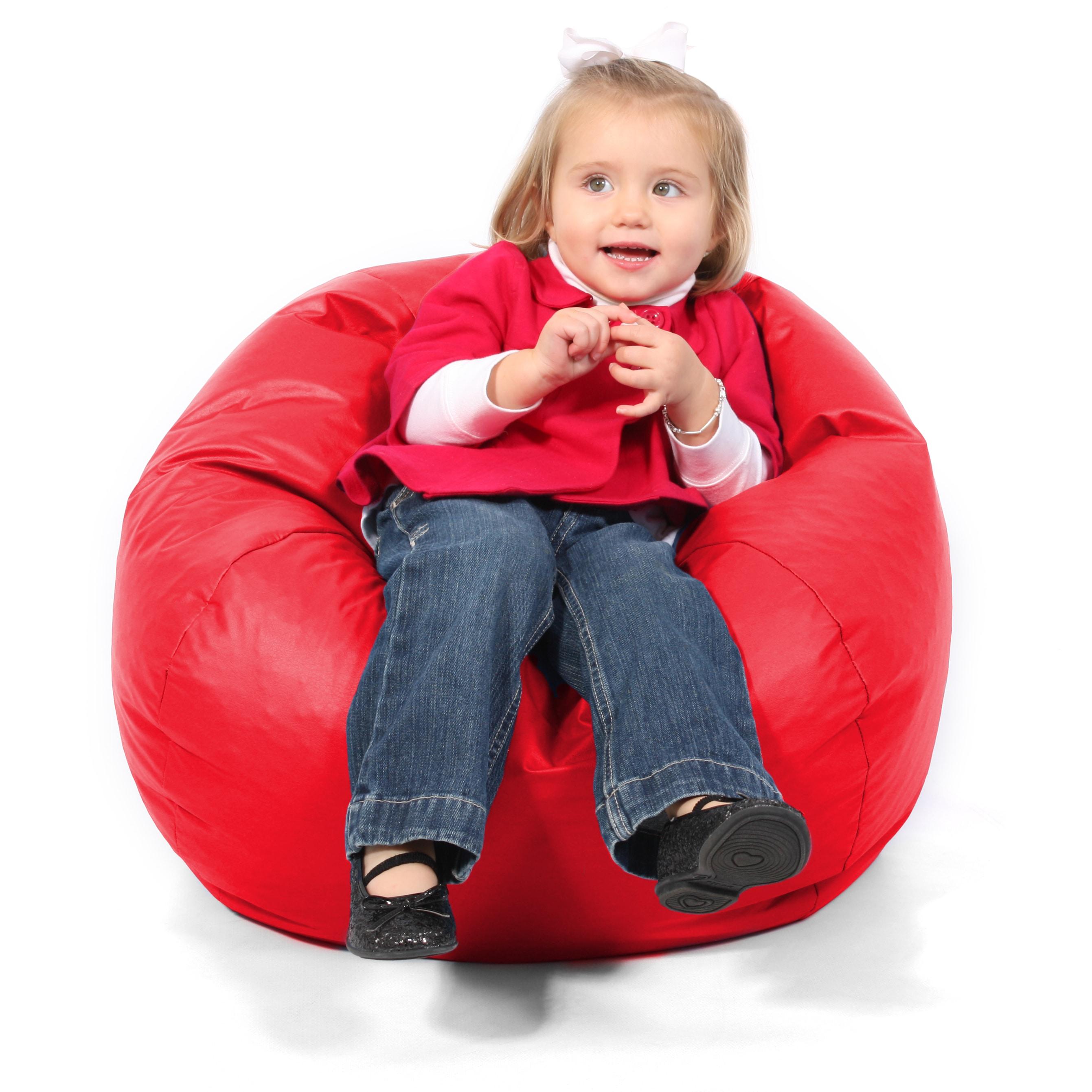 BeanSack Kids Red Vinyl Bean Bag - Overstock Shopping - Big Discounts ...
