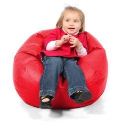 BeanSack Kids Red Vinyl Bean Bag