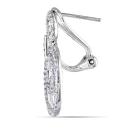 Miadora  14k White Gold 4/5ct TDW Diamond Earrings (G-H, SI1-SI2)