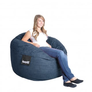 Navy Blue 4-foot Microfiber and Foam Bean Bag