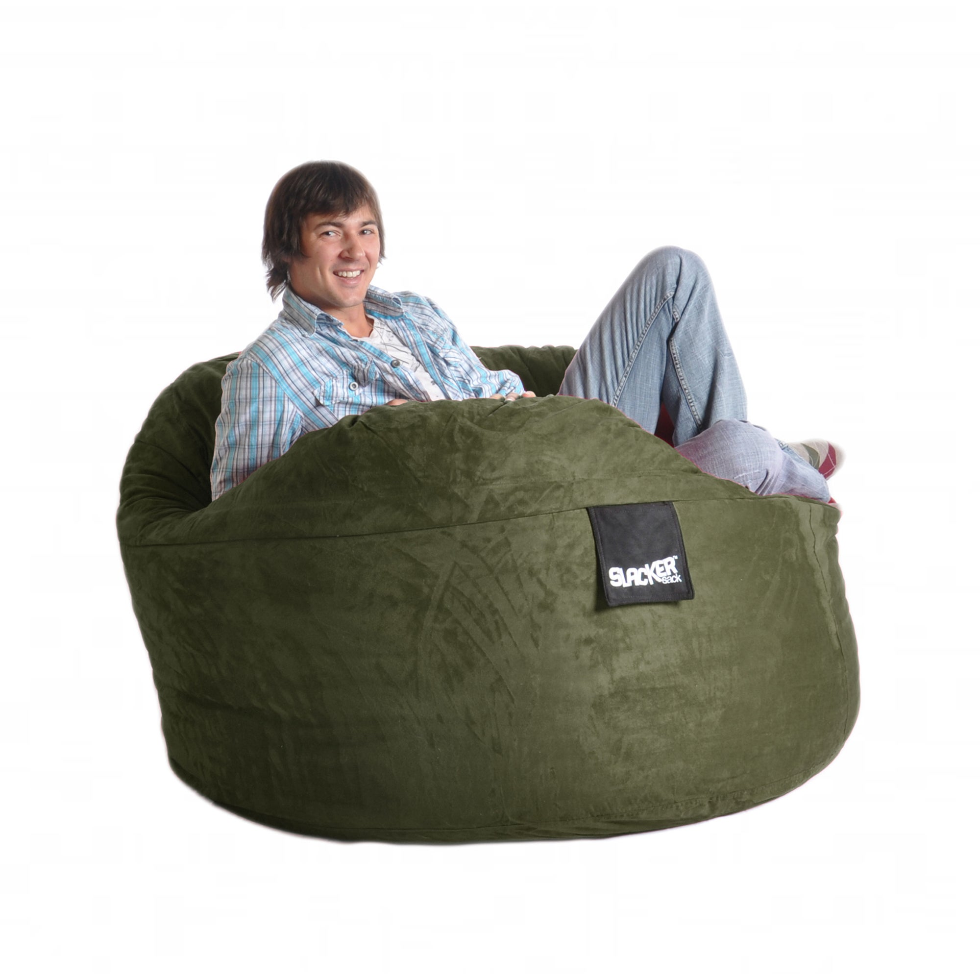 Olive Green 5-foot Microfiber and Foam Bean Bag at Sears.com