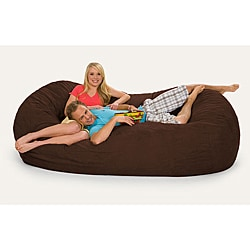Oval Dark Brown 8-foot Microfiber and Foam Bean Bag