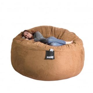 Earth Brown 6-foot Microfiber and Foam Bean Bag