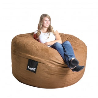 Earth Brown Microfiber and Foam 5-foot Bean Bag