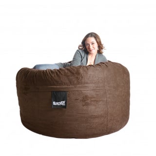 Chocolate Brown Microfiber and Foam 5-foot Bean Bag