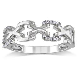 Miadora 10k White Gold 1/10ct TDW Diamond Fashion Ring (H-I, I2-I3)