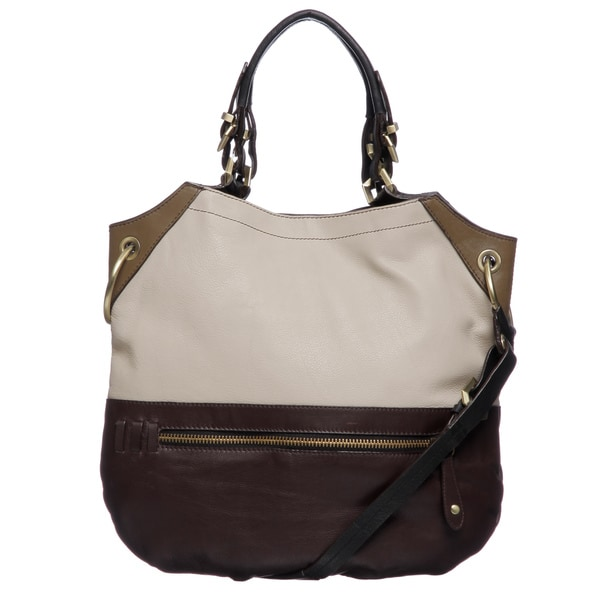 Oryany Sydney Colorblock Leather Shoulder Bag