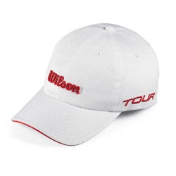 Wilson Tour White/ Red Tennis Hat
