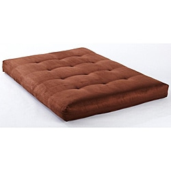 Suede Chocolate VertiCoil Spring 8-inch Thick Full-size Futon Mattress