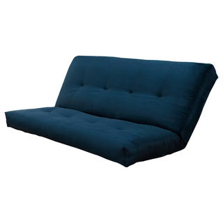 Suede Navy VertiCoil Spring 8-inch Thick Full-size Futon Mattress