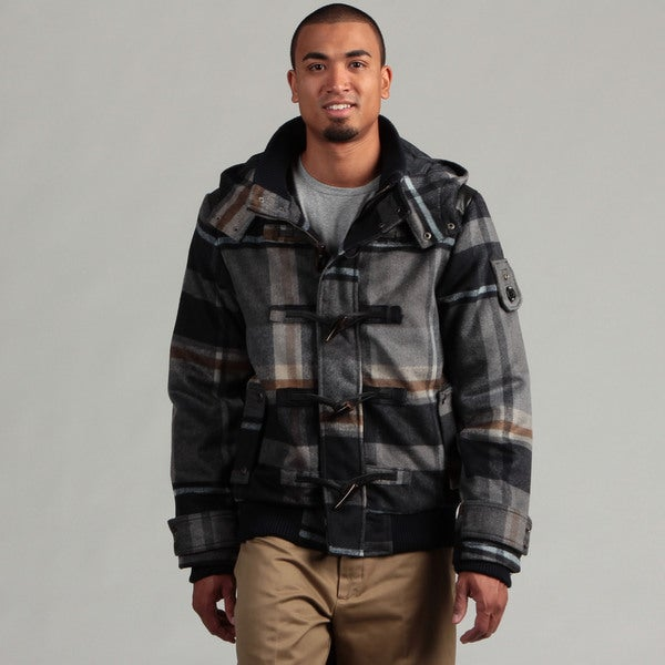 WT02 Men's Plaid Toggle Jacket