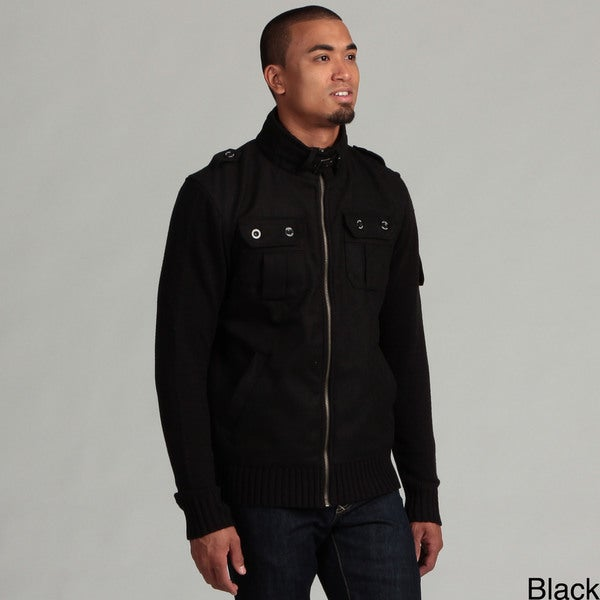 WT02 Men's Ribbed Sweater Jacket FINAL SALE