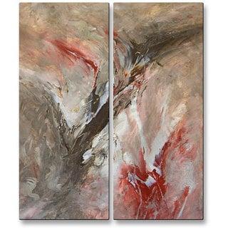 Mary Lea Bradley 'Narrow Recess' Metal Wall Art