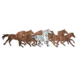 Ash Carl 'Wild Horses' Metal Wall Art