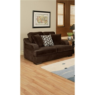 Kailer Chocolate Suede Loveseat