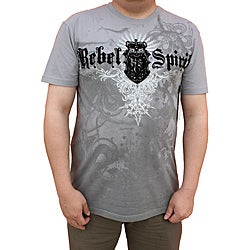 Rebel Spirit by Beston Men's Grey Crown Wing T-shirt