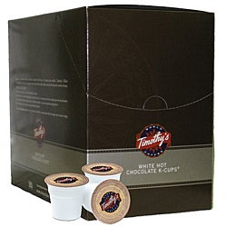 Timothy's World Coffee White Hot Chocolate K-Cup for Keurig Brewers (Case of 88)