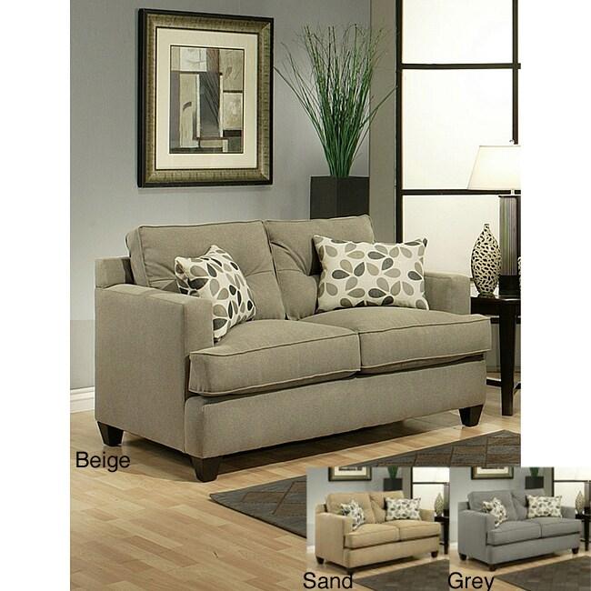 Furniture of America Nicolas Micro-Denier Fabric Loveseat