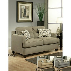 Furniture of America Nicolas Micro-Denier Fabric Loveseat