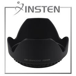 INSTEN 58-mm Crown-shaped Camera Hood Suitable for Black Lens/Filters