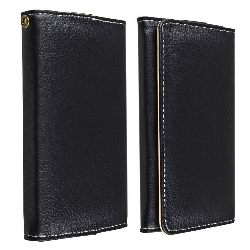 Samsung wallet phone case for samsung galaxy s3 : INSTEN Black Universal Leather Wallet Phone Case Cover for Cell Phone