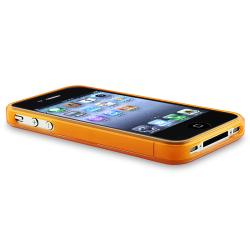Orange Flower Butterfly Case/ LCD Protector/ Wrap for Apple iPhone 4S