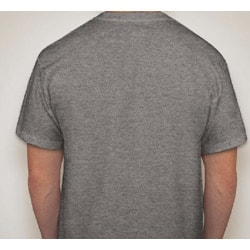 Men's Grey Cotton 'Periodic Bacon' T-Shirt