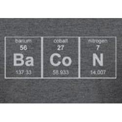 Men's Grey Cotton 'Periodic Bacon' T-Shirt