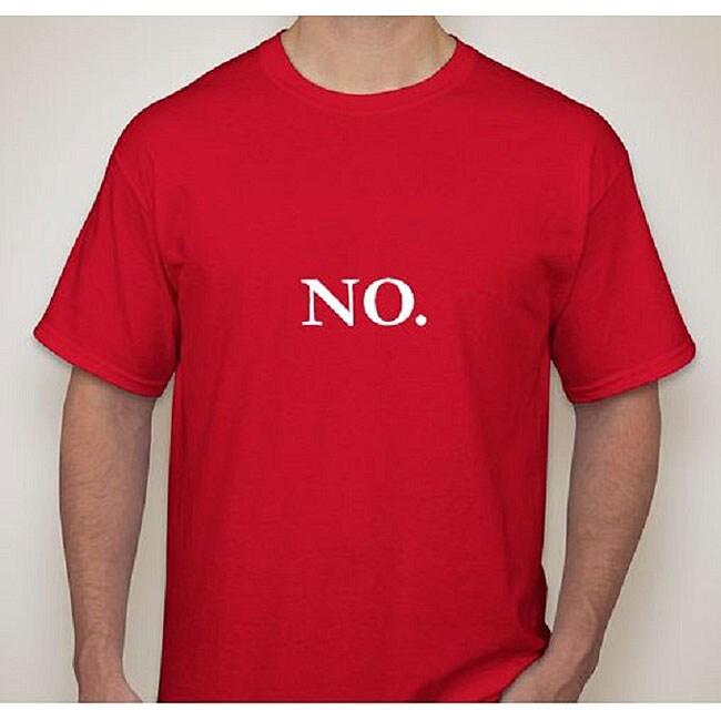 Men's 'No.' Red Cotton T-Shirt