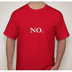 Hanes Men's 'No.' Red Cotton T-Shirt