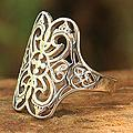 Sterling Silver 'Moonlight Lace' Ring (Thailand)