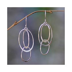 Sterling Silver 'Linked to You' Dangle Earrings (Indonesia)