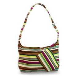 Cotton 'Colors of My Land' Medium Shoulder Bag (Guatemala)