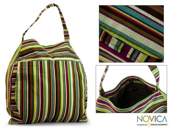 Cotton 'Colors of My Land' Medium Travel Bag (Guatemala)