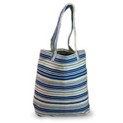 Cotton 'Colors of My Ocean' Medium Tote Bag (Guatemala)