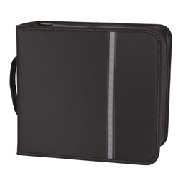 Case Logic Large Capacity Black Nylon CD/DVD Binder
