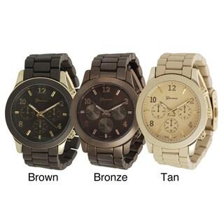 Geneva Platinum Men's Chronograph-Style Link Watch with Box
