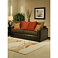 Furniture of America Roxanne Microsuede Leatherette Sofa