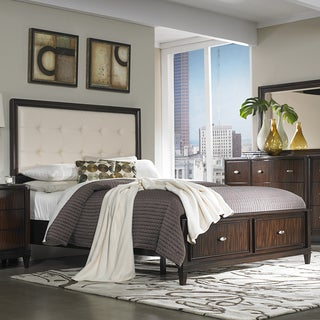 Cumbria White Bonded Leather 5-piece Queen-size Storage Bedroom Set