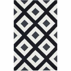 nuLOOM Handmade Black Diamond New Zealand Wool Rug (8'3 x 11')