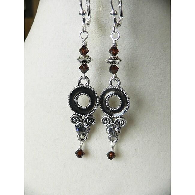 'Brianna' Bronze Enamel earrings