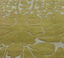 nuLOOM Handmade Modern Damask Grey Wool Rug (6' x 9')